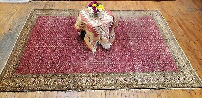 "Natural Dyes Cr1930-1939s Antique 6'8""×9'2"" Wool Pile Legendary Hereke Rug"