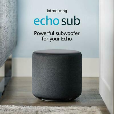 """BRAND NEW AND RETAIL SEALED - Amazon Echo Sub 6"""" 100W Subwoofer Charcoal Fabric"""