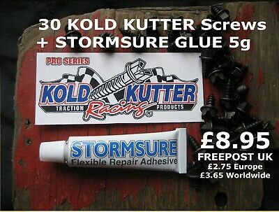 30 Kold Kutter Wader Boot Screws + Stormsure Adhesive - only £8.95 + FREEPOST UK