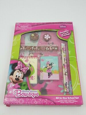 Disney Minnie Mouse Bowtique All In One School Set