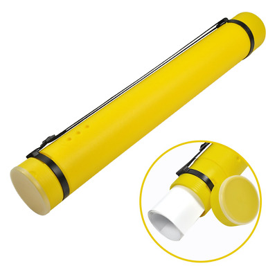 Document Storage Tube Plastic Expanding Poster/Pictures/Art Tubes 24.5 to 40 and