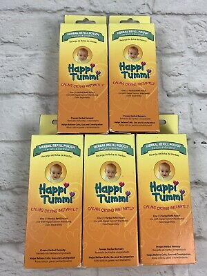 Happi Tummi Baby Gas Relief All Natural Belly Wrap HERBAL REFILL POUCH Lot of 5