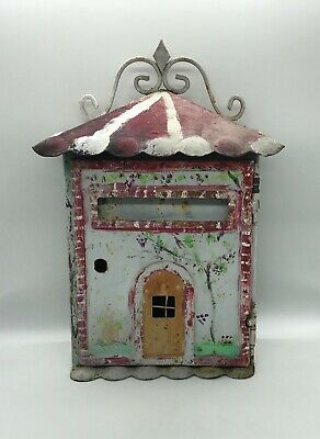 "Vintage Box, Cast Iron post Box "" Home "" Popular Art, Coin Single"