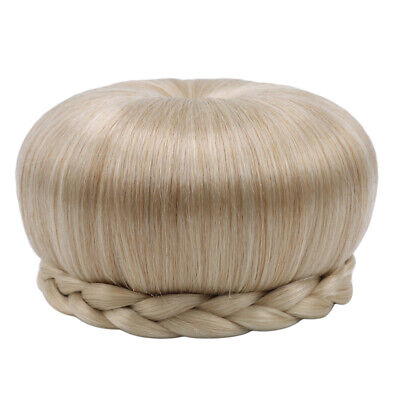 Lady Braided Hair Bun Clip In Hair Chignon Donut Synthetic Hairpiece Extenter 8C