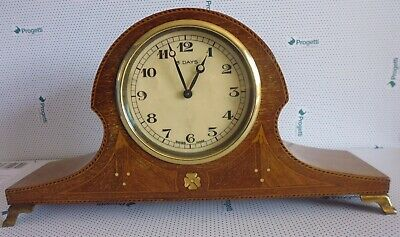 Edwardian Mahogany Mantel Clock (8 Day 'FHF' Movement)