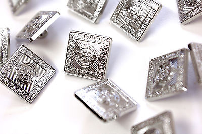 Small 15mm Spare Buttons Prince Charlie Argyll Jackets Chrome Pack of 100