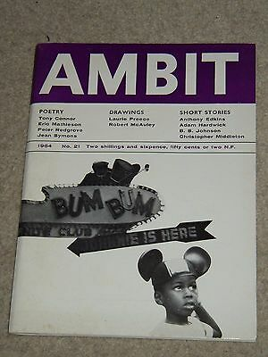 Ambit Magazine (no 21 1964) - Poems Drawings Short Stories - Ed. Martin Bax