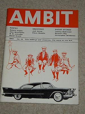 Ambit Magazine (no 19 1964) - Poems Drawings Short Stories - Ed. Martin Bax