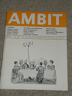 Ambit Magazine (no 22 1964/5) - Poems Drawings Short Stories - Ed. Martin Bax