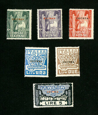 Eritrea Stamps # 69-74 Fresh OG LH Set of 6 Scott Value $66.00