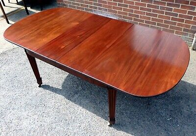 Victorian antique Adam style solid mahogany extending dining table seats 10