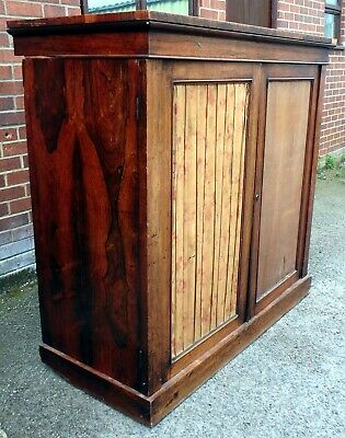 Rare William IV antique country house Rio rosewood linen press wardrobe chest