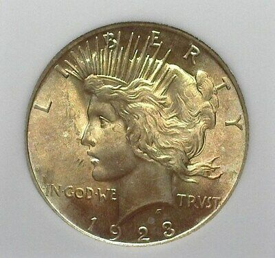 1923 Peace Silver Dollar  Gem Uncirculated+  Nice Color