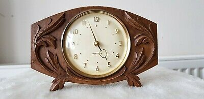 Vintage Wooden Carved Clock