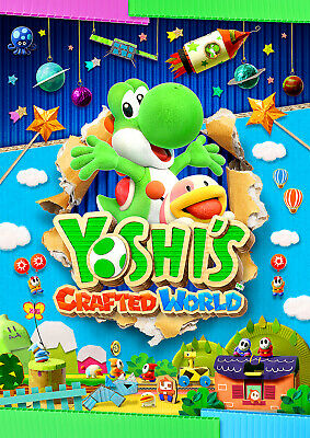 Yoshis Crafted World Poster, NEW Hit 2019 Game Mario, FREE P+P, CHOOSE YOUR SIZE
