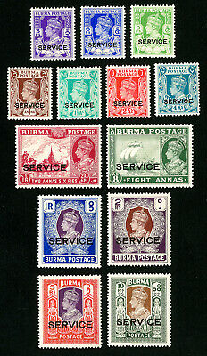 Burma Stamps # 15-27 VF OG LH Set of 13 Scott Value $250.00