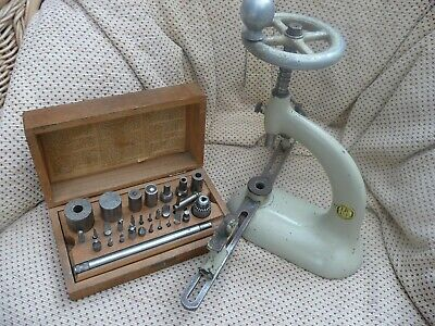 VINTAGE CIRCA 1950s CLOCK MAKERS SWISS MADE BERGEON BUSHING TOOL AND ACCESSORIES