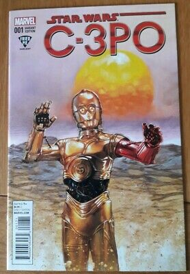 Star Wars C-3Po #1 Fried Pie Dave Dorman Variant. Marvel Comics. Nm.