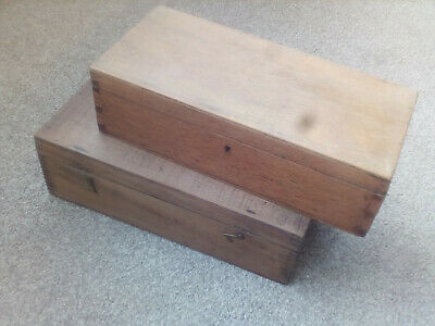 Three Old Wooden Boxes .not Sure Which Type Of Wood.