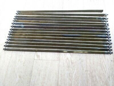 15 antique brass stair rods. No Fixings