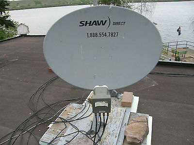 NEW SHAW DIRECT 75cm ELLIPTICAL SATELLITE DISH w Triple XKU LNB
