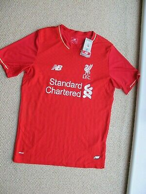 69496e4b748 LIVERPOOL FC Home Shirt Red New Balance 2016 17 Size S with Coutinho Name 10