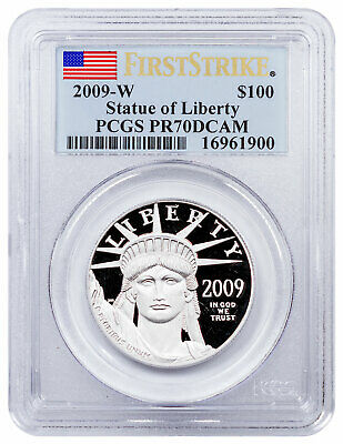 2009 W 1 oz Platinum American Eagle Proof $100 PCGS PR70 DCAM FS SKU21823