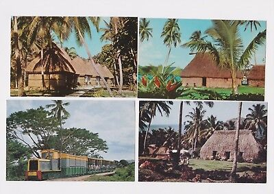 Vintage Republic Of Fiji Post Card Lot 11 Views Rppc South Pacific