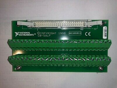 National Instruments NI CB-50LP I/O Connector Screw Terminal Connector Block