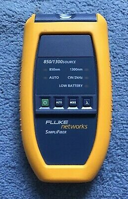 Fluke Networks SimpliFiber 850/1300 source perfect conditions