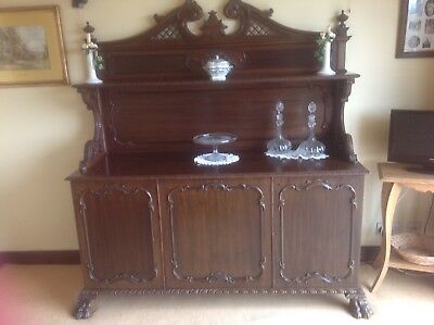 Original Antique Carved Mahogany Chiffonier/Sideboard Beautiful Unique Style