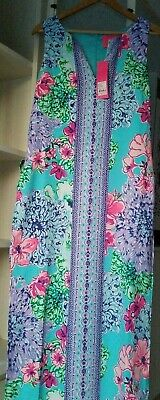 c0865dc54ae978 New Lilly Pulitzer Donna Maxi Romper Multi Special Delivery Size 8 15038