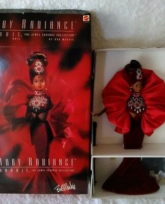 1996 Ruby Radiance Barbie Doll by Bob Mackie the Jewel essence collection