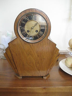 ART DECO 1902 8 Day Chiming MANTEL CLOCK