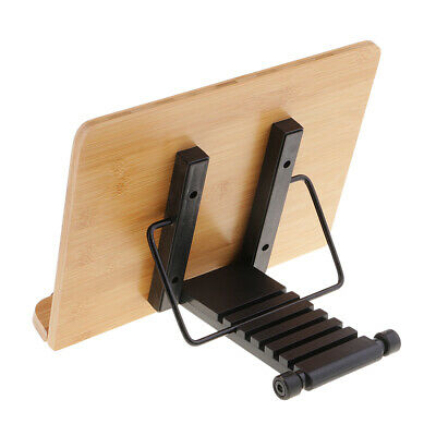 Portable Bamboo Book Stand, Adjustable Foldable Cookbook Reading Bookstands