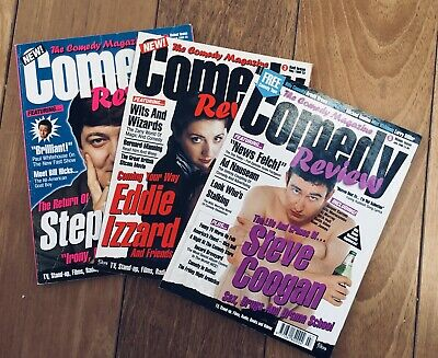 Comedy Review magazine, Issues 1,3 and 5 from 1996, classic era of comedy