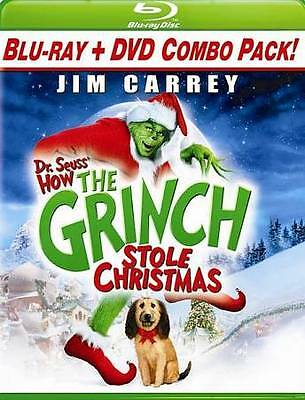 Dr. Seuss' How the Grinch Stole Christmas   (Blu-ray/DVD, 2009)  Jim Carrey  NEW