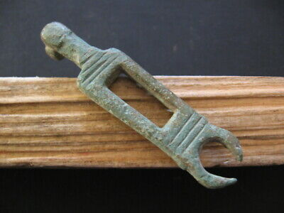 ANCIENT ROMAN BRONZE ENGRAVED DOOR LOCK KEY 1-2 ct A.D. FROM VILLA RUSTICA