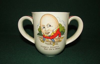 A Beautiful Humpty Dumpty Sat on a Wall Mug with Two Handles Children's