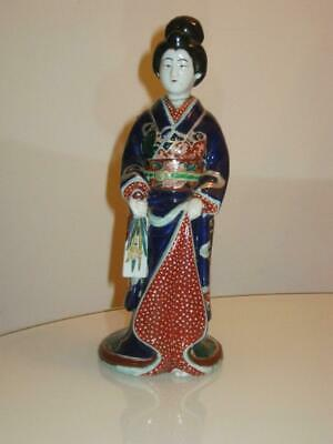 Stunning Antique Japanese Porcelain Geisha Figure
