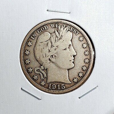 1915-D Barber Half Dollar - Great Looking Piece - Some Tone