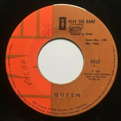 QUEEN - Play The Game / A Human Body - RARE GUATEMALA 45