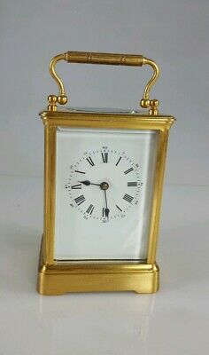 Antique Brass Striking Carriage Clock Large Case