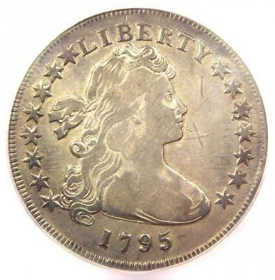 1795 Draped Bust Silver Dollar ($1 Coin, Small Eagle, BB-51) - ICG F12 Details!