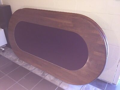 HARDWOOD POKER TABLE - BRAND NEW SPEED FELT - Top Only - No Legs