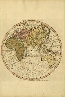 20'' x13''inches ANTIQUE GEOGRAPHY VINTAGE 01 OLD WORLD MAP POSTER