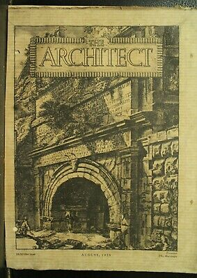 The Architect antique vintage old Architecture Arts magazine Journal Aug 1925
