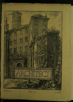 The Architect antique vintage old Architecture Arts magazine Journal June 1930