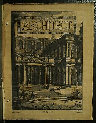 The Architect antique vintage old Architecture Arts magazine Journal April 1925