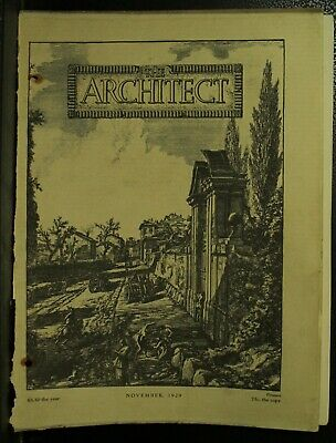The Architect antique vintage old Architecture Arts magazine Journal Nov 1929